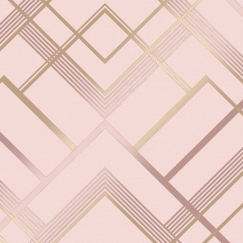 Otis Geometric Wallpaper Pink