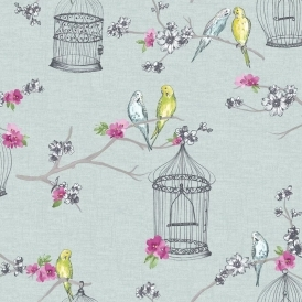 Overture Bird Wallpaper Teal