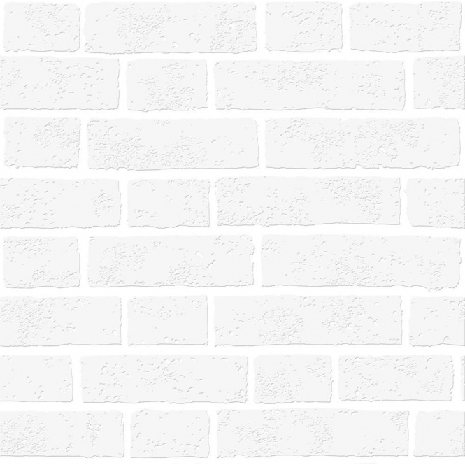 Paintable White Brick Effect Wallpaper