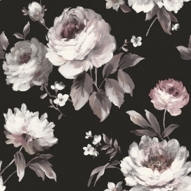 Painterly Floral Wallpaper Mono
