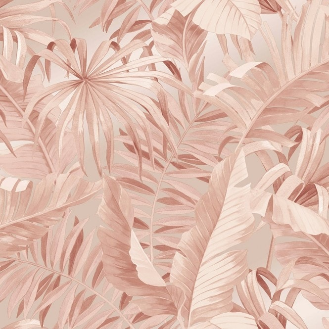 Lucie Annabel Palma Tropical Wallpaper Blush