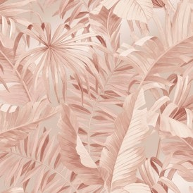 Palma Tropical Wallpaper Blush
