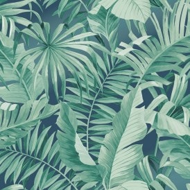 Palma Tropical Wallpaper Navy
