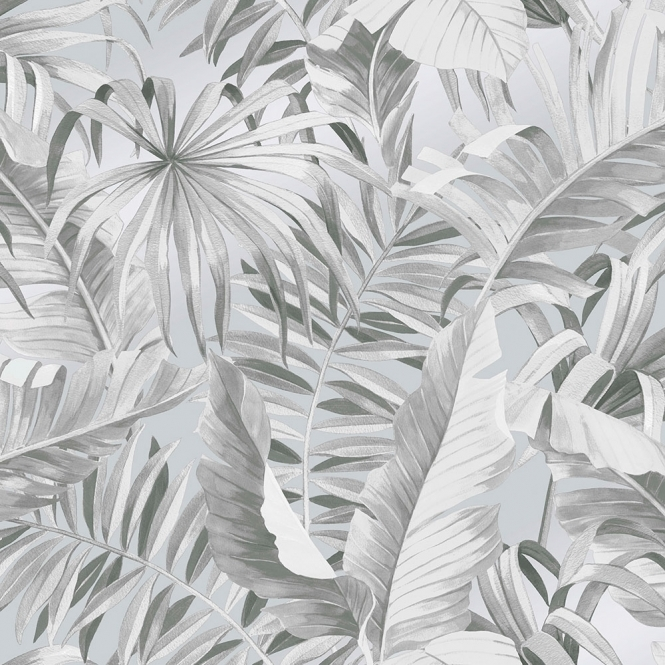 Lucie Annabel Palma Tropical Wallpaper Grey