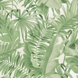 Palma Tropical Wallpaper Green