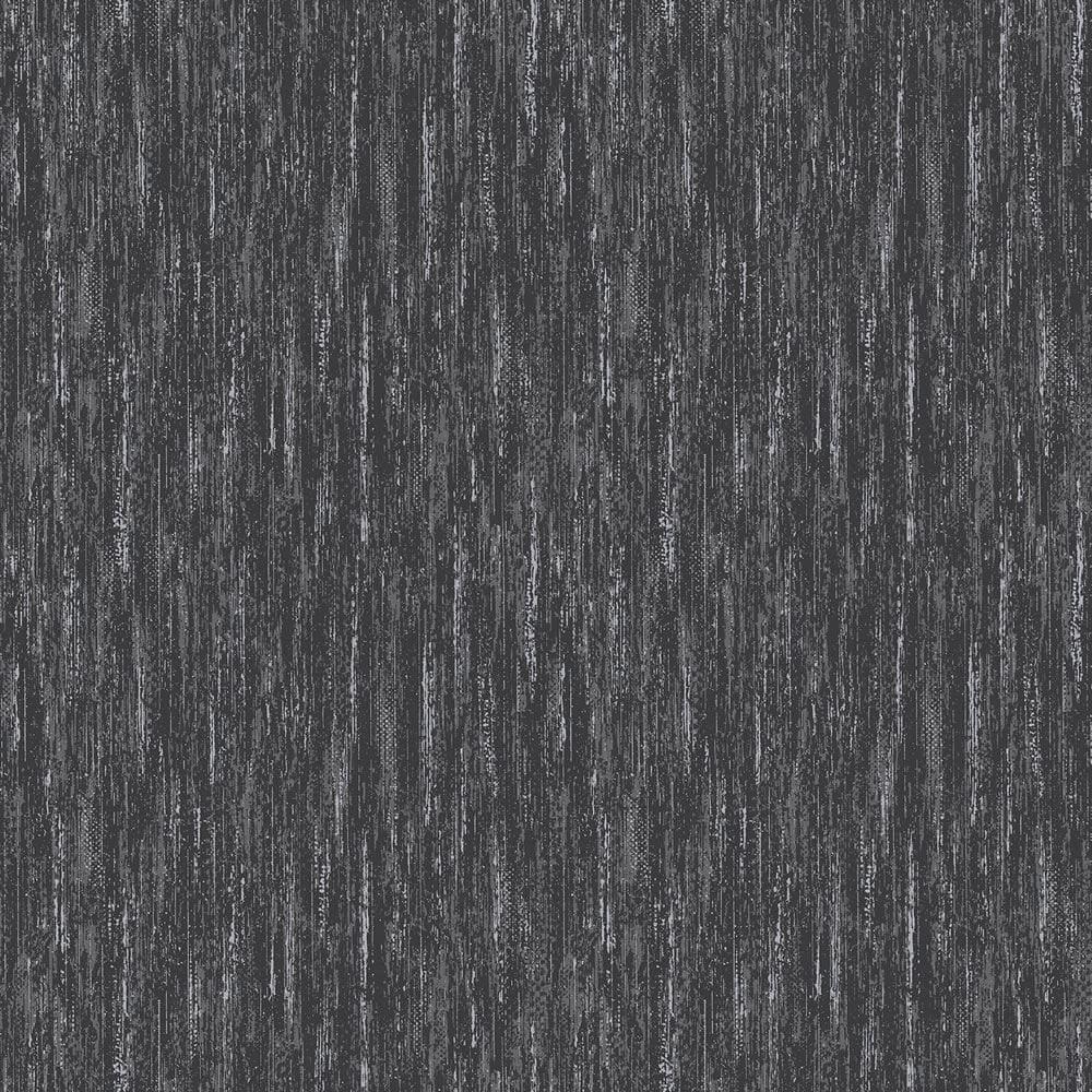 Vymura Panache Plain Wallpaper Ebony Black Glitter