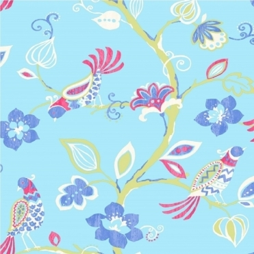 Paradise Wallpaper Cornflower Blue (M0739)