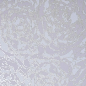 Peony Hand Screen Printed Floral Wallpaper Grey