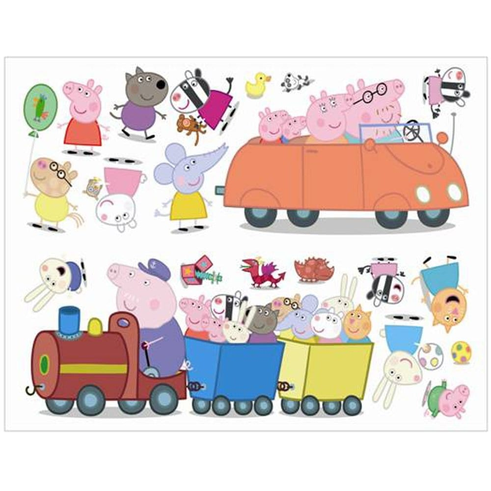 Fun4walls Peppa Pig Wall Stickers Stikarounds Sa10506