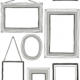Picture Wall Frames Wallpaper Black White