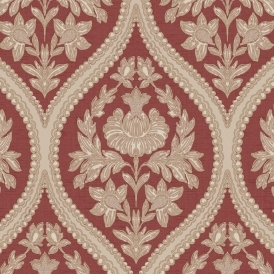 Pienza Damask Wallpaper Red