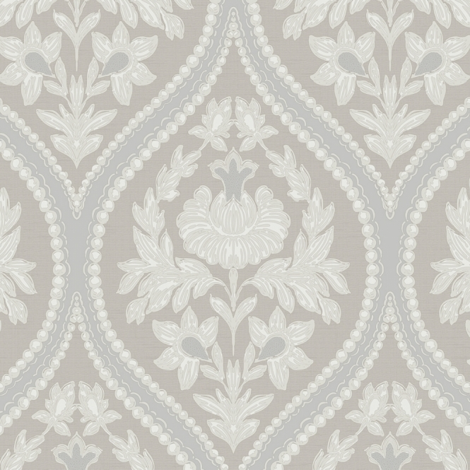 Designer Interiors Pienza Damask Wallpaper Taupe (35480)