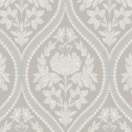 Pienza Damask Wallpaper Taupe