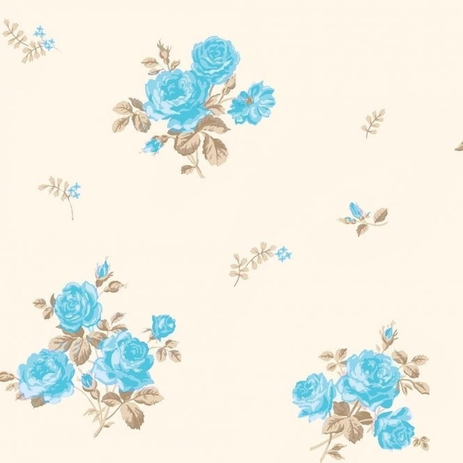 Coloroll Pippa Floral Wallpaper Peppermint