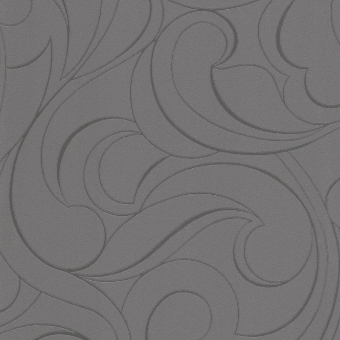 Rasch Plaisir Whisps Wallpaper Charcoal, Silver (887105)