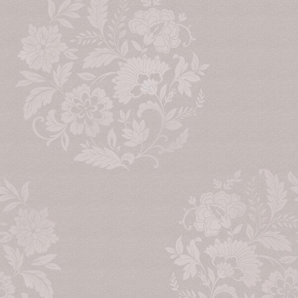 Decorline Platinum Floral Motif Wallpaper Taupe
