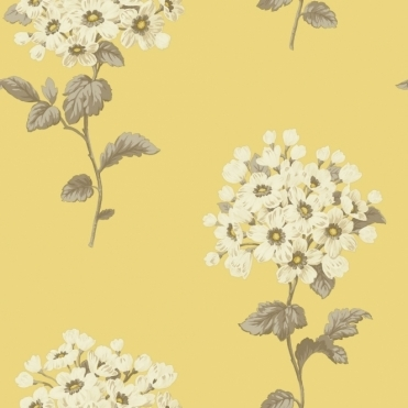 Pom Pom Floral Wallpaper Yellow (664502)