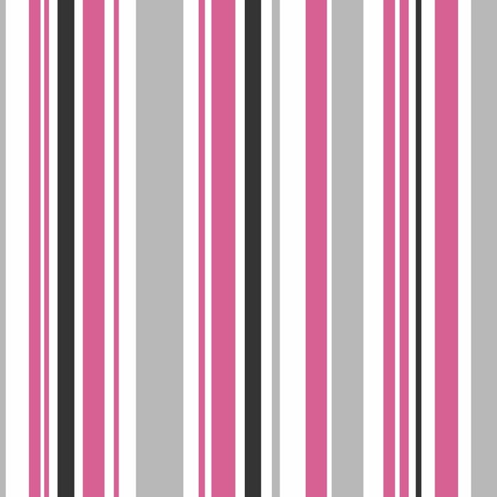 Poppie Stripe Wallpaper Pink White