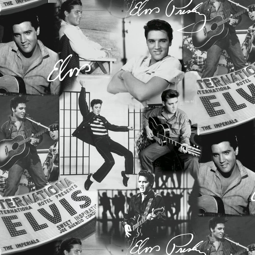 Muriva Presley Collage Wallpape Black And White 102544