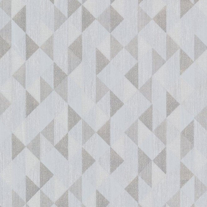 Decorline Prism Ethan Triangle Wallpaper Silver / Grey (DL20933)