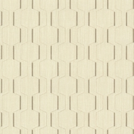 Prism Harrison Rectangular Geo Wallpaper Cream Gold