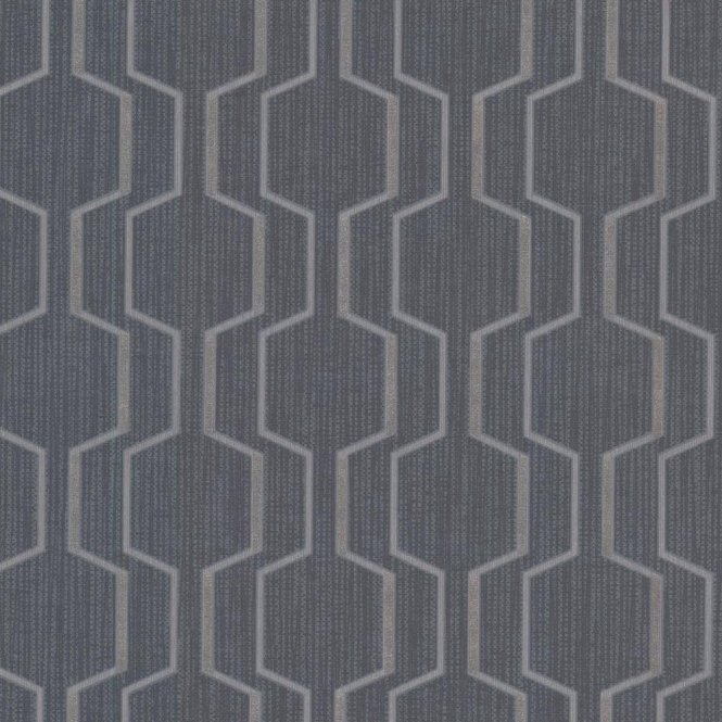 Decorline Prism Harrison Rectangular Geo Wallpaper Dark Blue (DL20926)