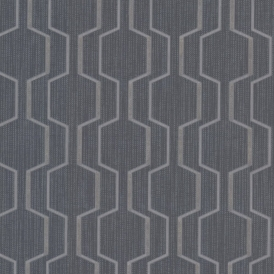 Prism Harrison Rectangular Geo Wallpaper Dark Blue