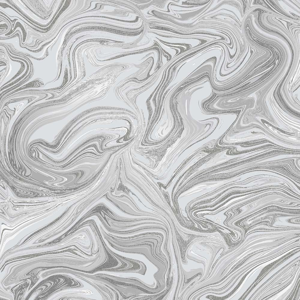 Prosecco Sparkle Marble Wallpaper Grey Silver Wallpaper