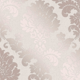 Quartz Damask Wallpaper Rose Gold (FD42204)