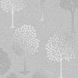 Quartz Tree Wallpaper Silver
