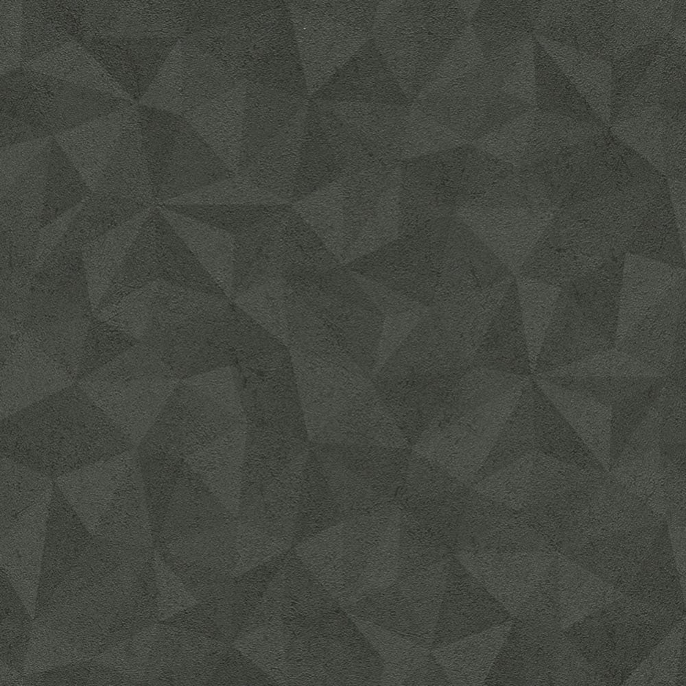 Rasch Metal Spirit Geometric Wallpaper Black Grey 587722