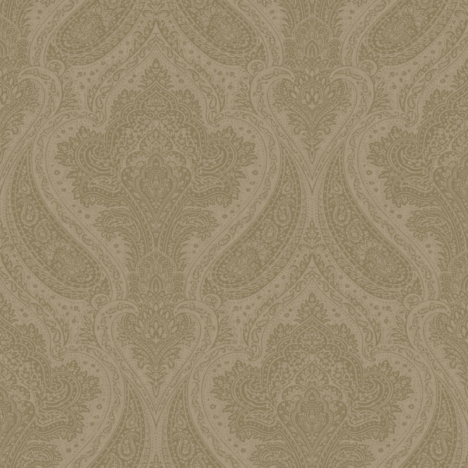 Rasch Roma Damask Wallpaper Taupe, Silver (208641)