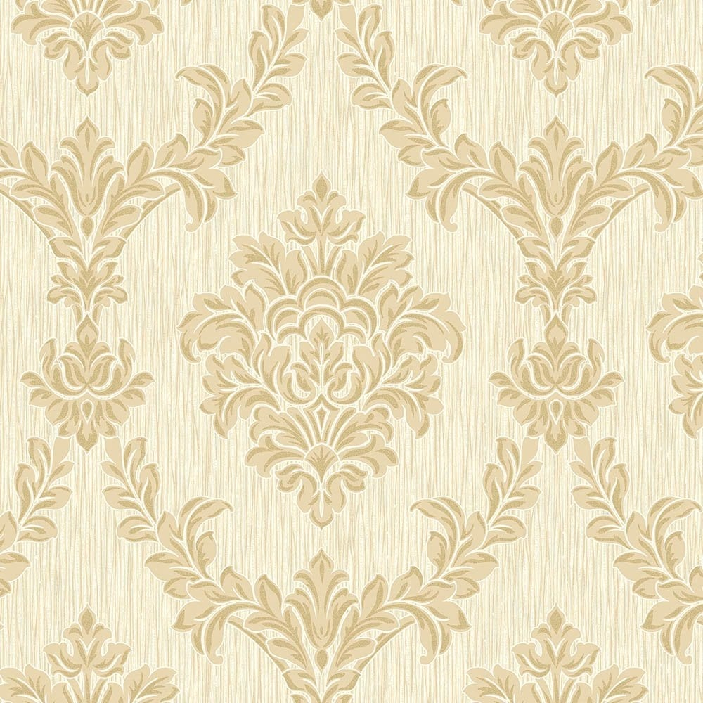 Fine Decor Richmond Damask Textured Glitter Wallpaper Soft