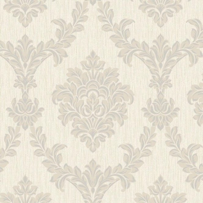Fine Decor Richmond Damask Textured Glitter Wallpaper Taupe, Silver (FD40907)