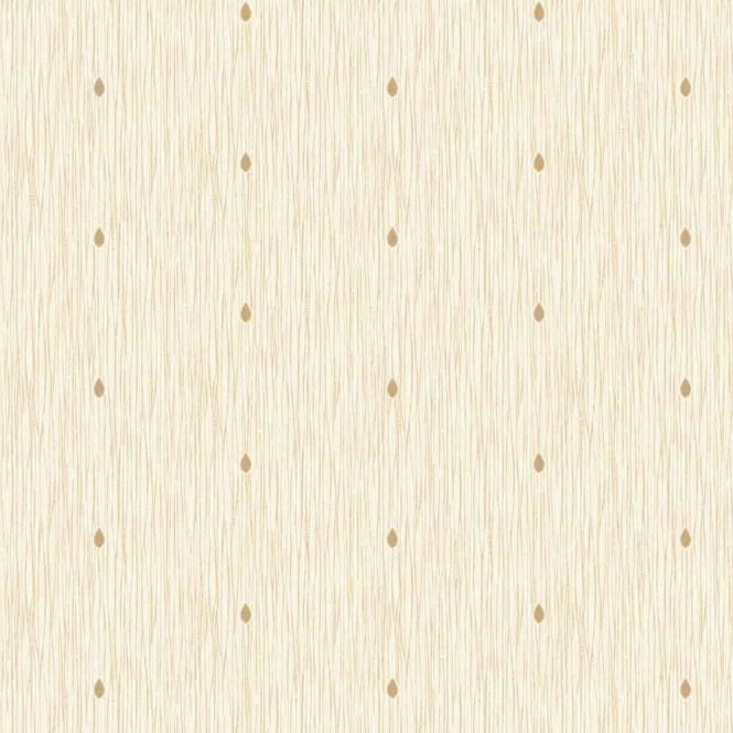 Fine Decor Richmond Teardrop Textured Glitter Wallpaper Cream / Gold (FD40912)