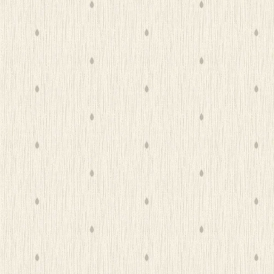Richmond Teardrop Textured Glitter Wallpaper Taupe Gold