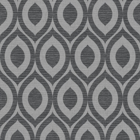 Rimini Geometric Wallpaper Black Silver