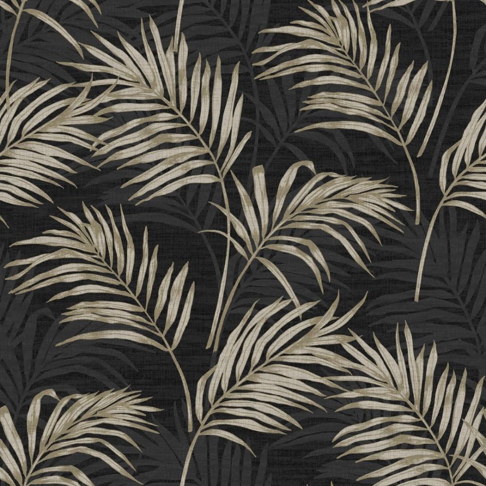 Rio Palm Leaf Wallpaper Black - Wallpaper from I Love ...