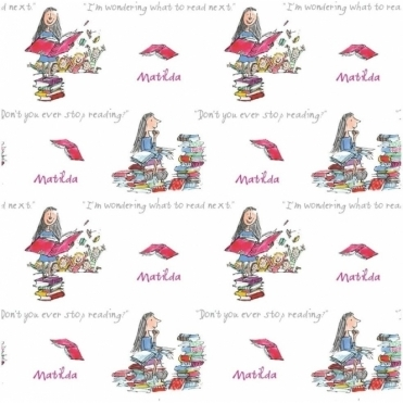 Roald Dahl Matilda Wallpaper White (601525)