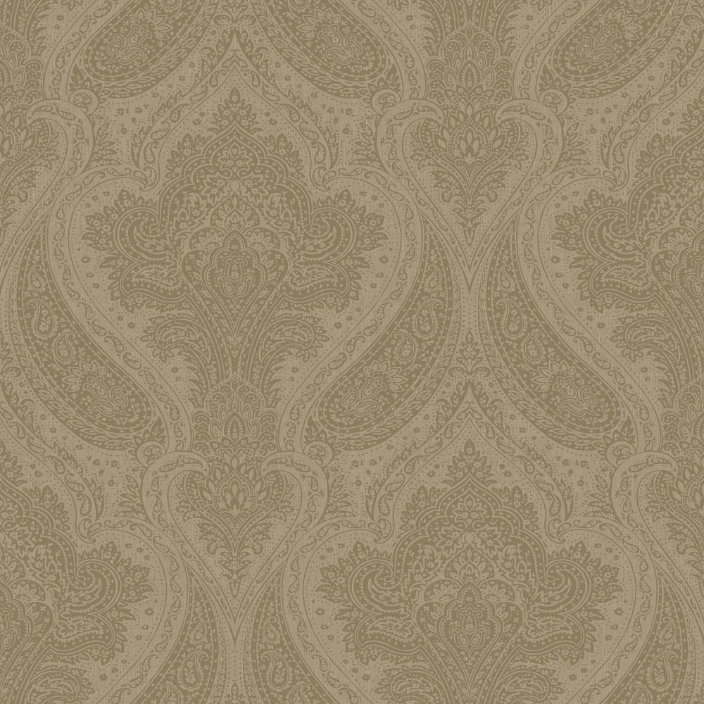 Rasch Roma Damask Wallpaper Taupe Silver 208641