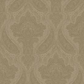 Roma Damask Wallpaper Taupe, Silver (208641)