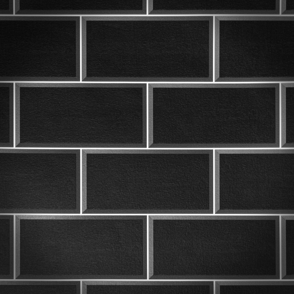 Arthouse Romano Brick Tile Wallpaper Black Wallpaper