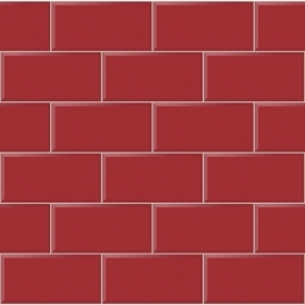 Romano Brick Tile Wallpaper Red