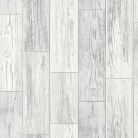 Salcombe Wood Panel Wallpaper Grey