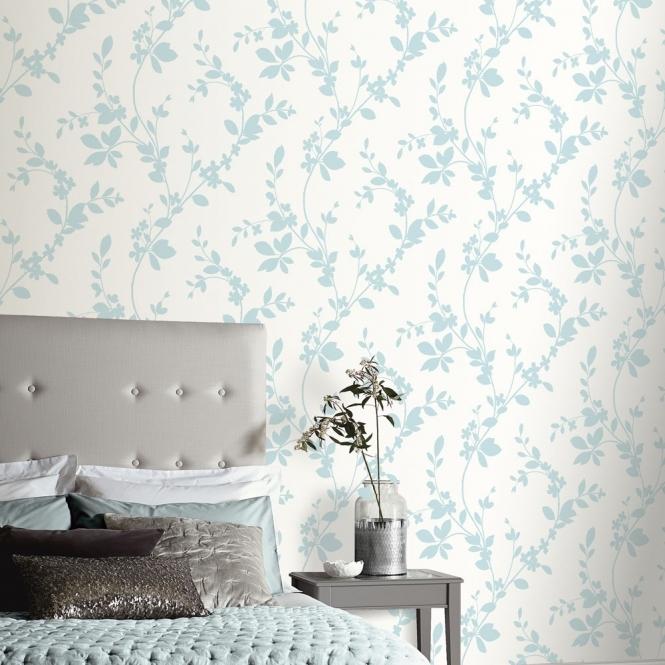 I Love Wallpaper **Sample** Vintage Lavinia Wallpaper Duck Egg (891700-SAMPLE)