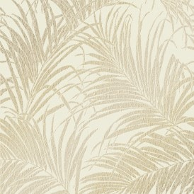Sapphire Palm Leaf Wallpaper Rose Gold
