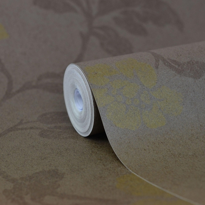 Kenneth James Savoy Floral Trail Wallpaper Brown (FD51932)