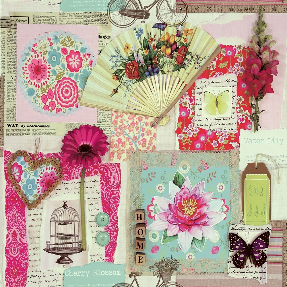 Arthouse Scrapbook Collage Wallpaper Multicoloured