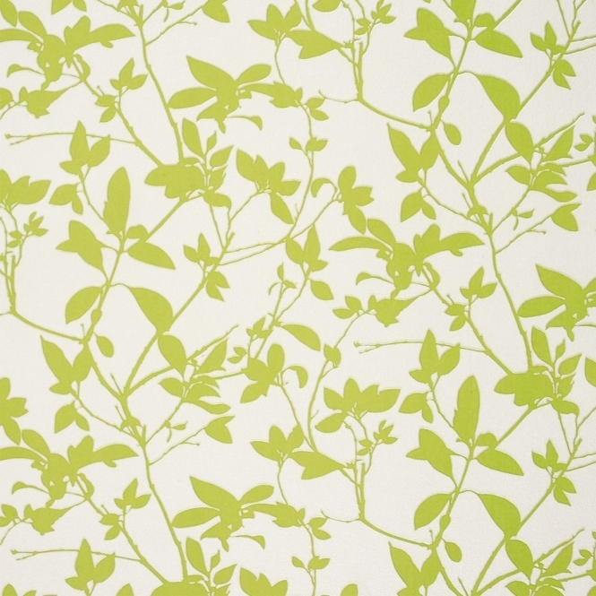 Caselio Seasons Leaf Trail Wallpaper Green White