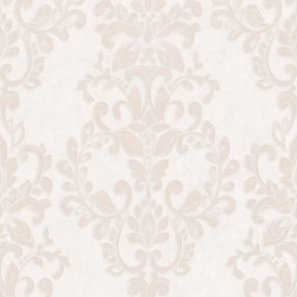 Serafina Damask Heavyweight Vinyl Wallpaper Bone